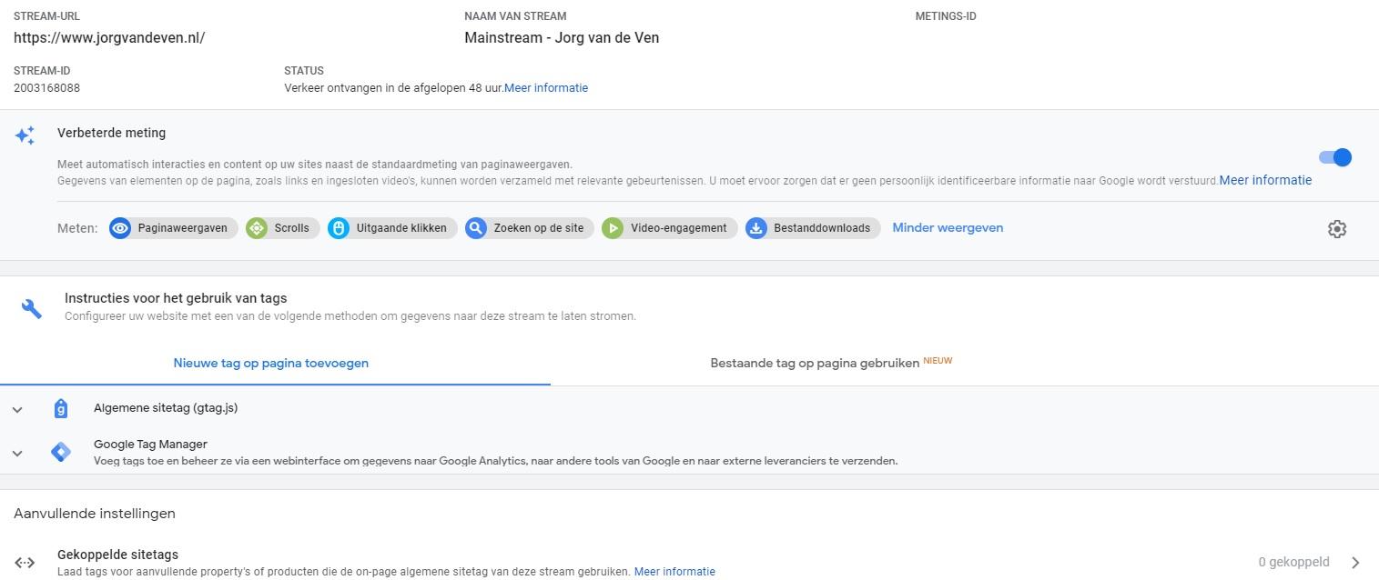 Stream Google Analytics Web + App